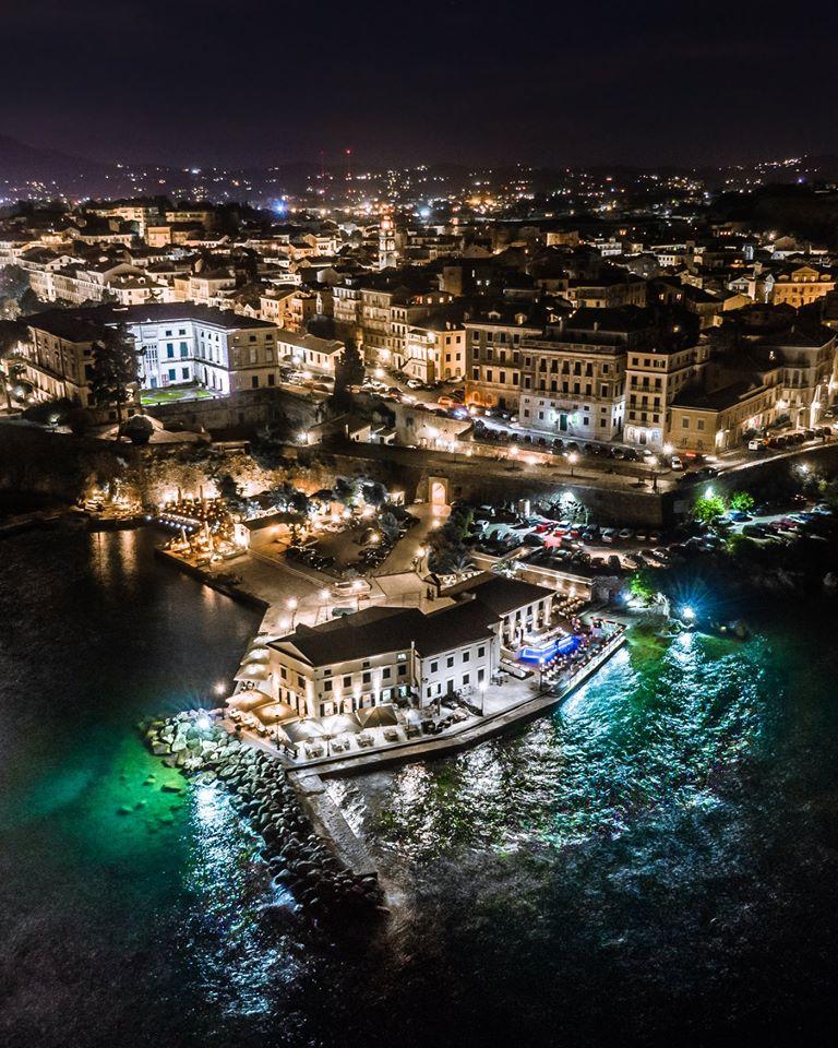 Falirari from above at night